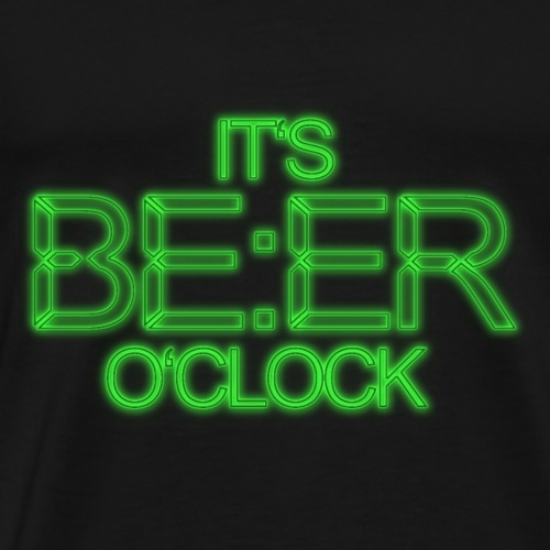 Neon Lettering Beer O´Clock - Männer Premium T-Shirt