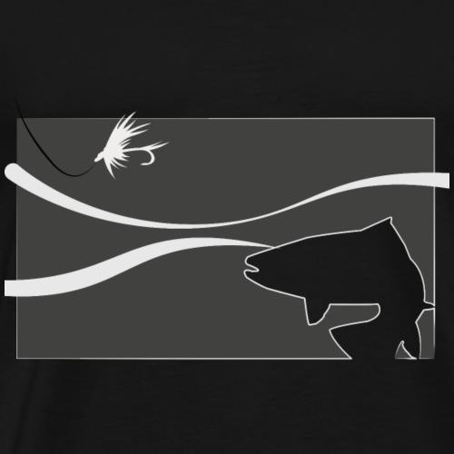 Modell 72 - Forelle im Strom - Männer Premium T-Shirt