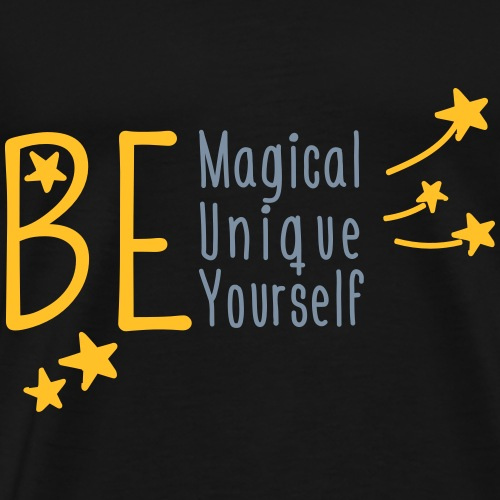 BE MAGICAL, UNIQUE, YOURSELF | The colorful zebra - Men's Premium T-Shirt