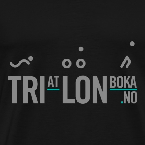 Triatlonboka - Premium T-skjorte for menn