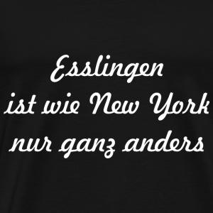 Esslingen ist wie New York nur ganz anders Weiss - Männer Premium T-Shirt