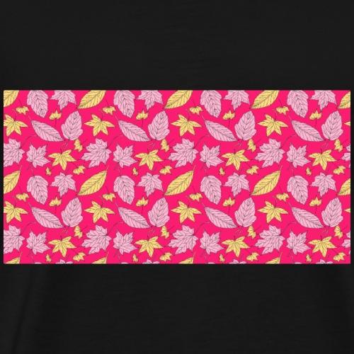 Rosa Blätter - Männer Premium T-Shirt