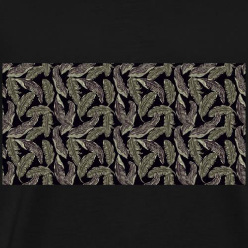 Dunkle Blätter - Männer Premium T-Shirt