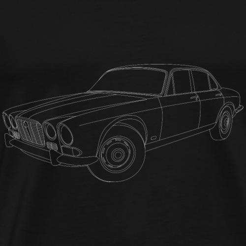 70s JAGUAR XJ WHITE - Men's Premium T-Shirt