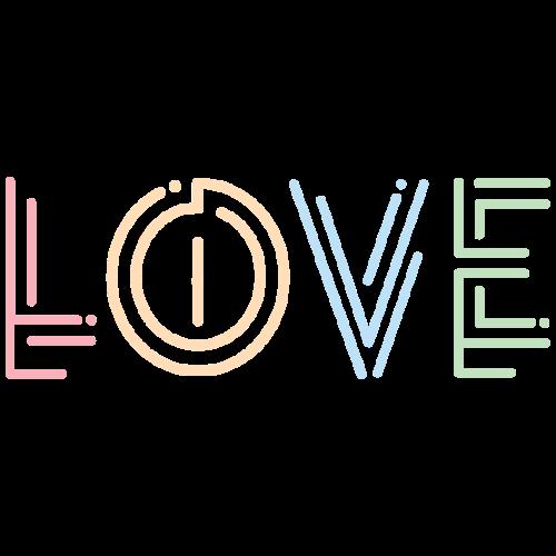 Liebe | Schriftzug kreativ bunt - Männer Premium T-Shirt