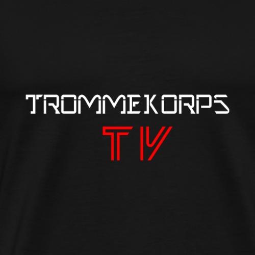 Trommekorps TV White - Herre premium T-shirt