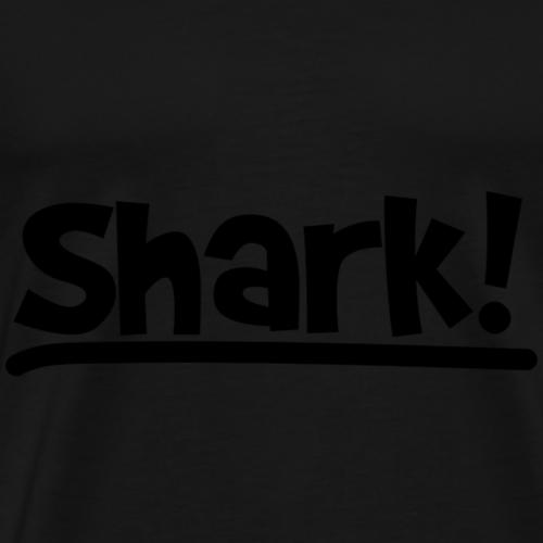 Shark zwart logo - Mannen Premium T-shirt