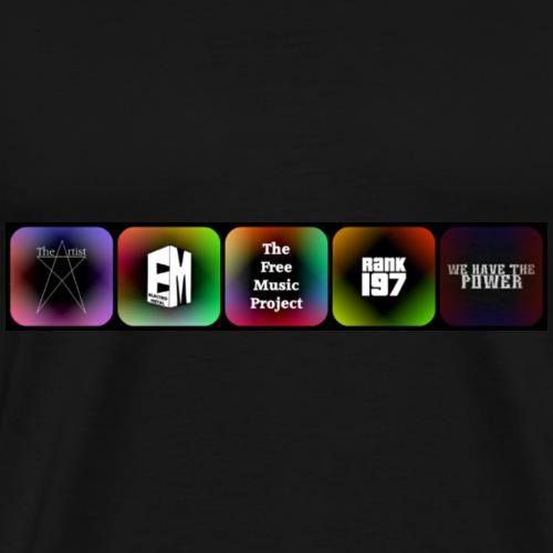 5 Logos - Men's Premium T-Shirt