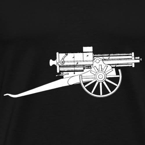 Vintage Retro Style Gatling Gun - Männer Premium T-Shirt