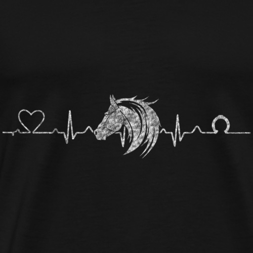 Heartline Pferd - Männer Premium T-Shirt