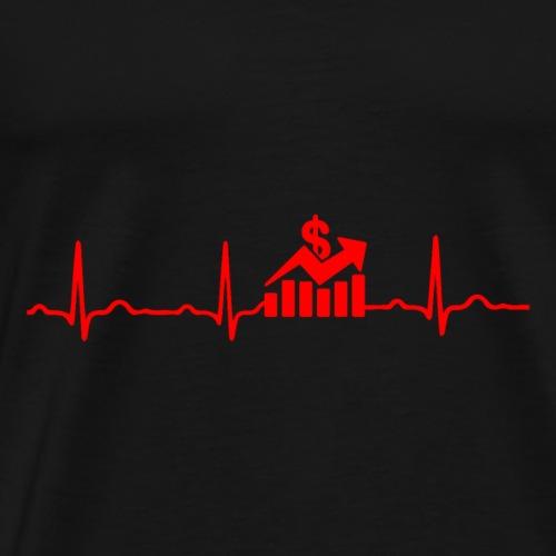 EKG HERZSCHLAG Börse - Kryptowährung Red - Männer Premium T-Shirt