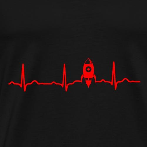 EKG HERZSCHLAG MOND MOON - Kryptowährung Red - Männer Premium T-Shirt