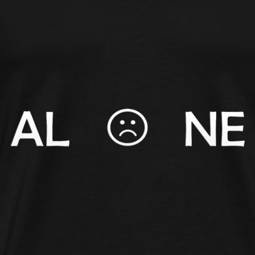 ALONE white - Camiseta premium hombre