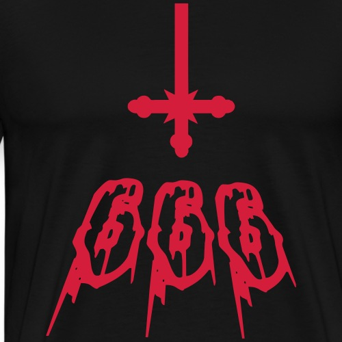 666 The number of the beast. - Men's Premium T-Shirt