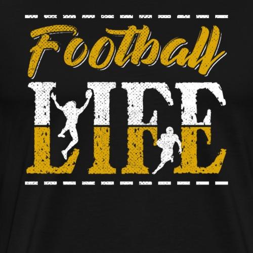 Football LIFE Retro Style - Männer Premium T-Shirt