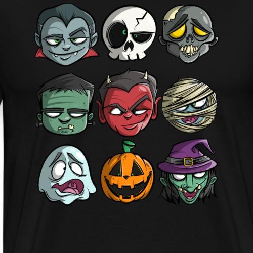 Halloween Gesichter - Männer Premium T-Shirt