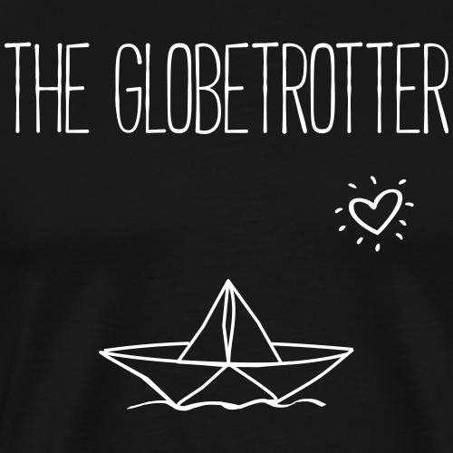 THE GLOBETROTTER- Urlaub Papierboot Geschenk Shirt - Männer Premium T-Shirt