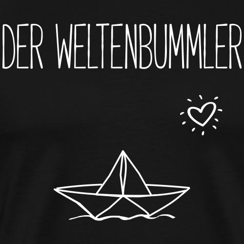DER WELTENBUMMLER- Reisen Urlaub Schiffe Geschenk - Männer Premium T-Shirt