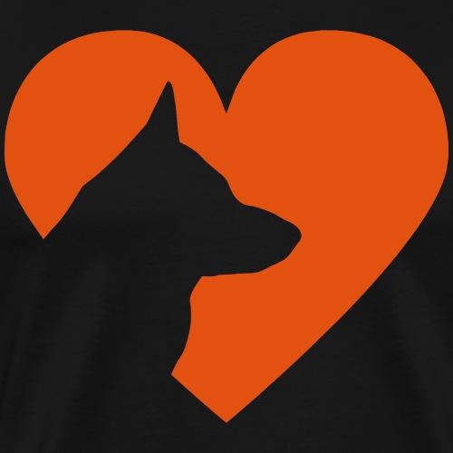 Herz mit Schäferhund Vector - Männer Premium T-Shirt