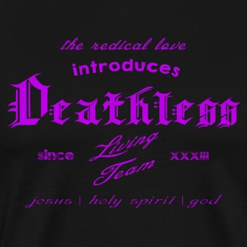 deathless living team violet - Männer Premium T-Shirt