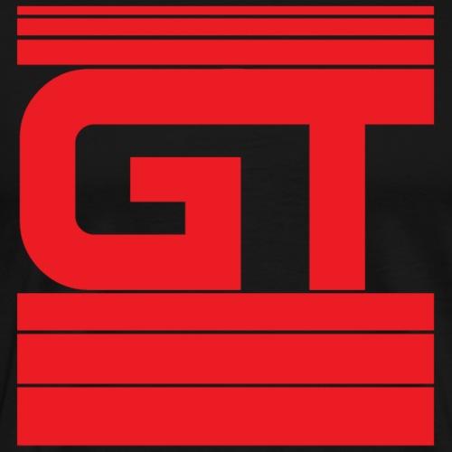 Gymtastic - GT - Striche - Rot - Sportbekleidung - Männer Premium T-Shirt