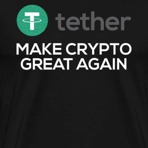 Tether USDT Logo Make Crypto Great Again - Männer Premium T-Shirt