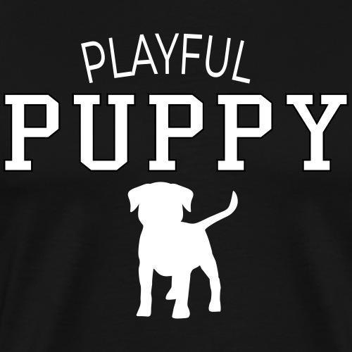 Playful puppy - Mannen Premium T-shirt