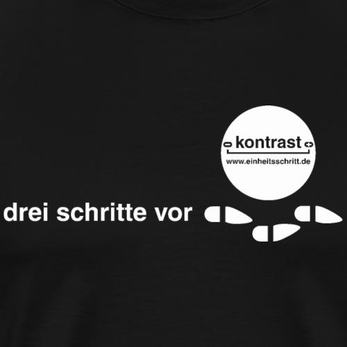 Einheitsschritt weiß - Männer Premium T-Shirt