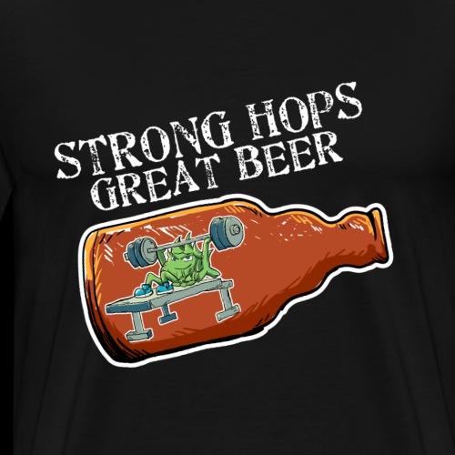 Muskel Craft Bier Hopfen Bankdrücken Hobbybrauer - Männer Premium T-Shirt