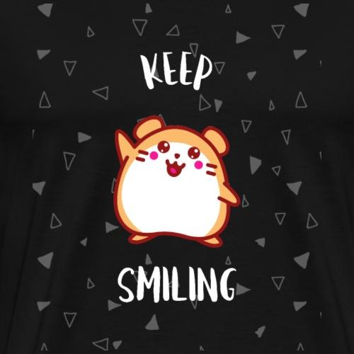 KEEP SMILING Shirt Geschenk - Männer Premium T-Shirt
