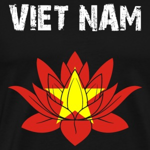 Nation design Vietnam Lotus - Herre premium T-shirt
