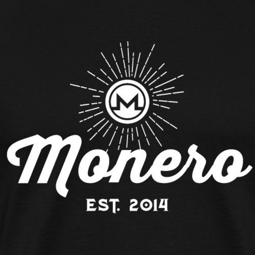 Monero Vintage 01 Valkoinen - Miesten premium t-paita