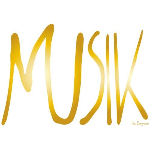 Musik gold - Männer Premium T-Shirt