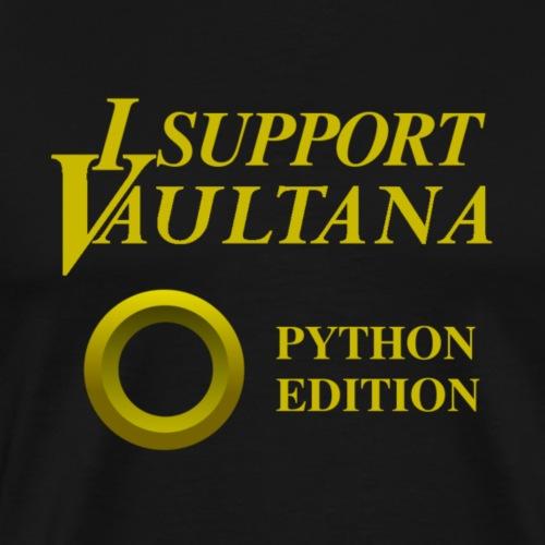 Vaultana Python Support - Männer Premium T-Shirt