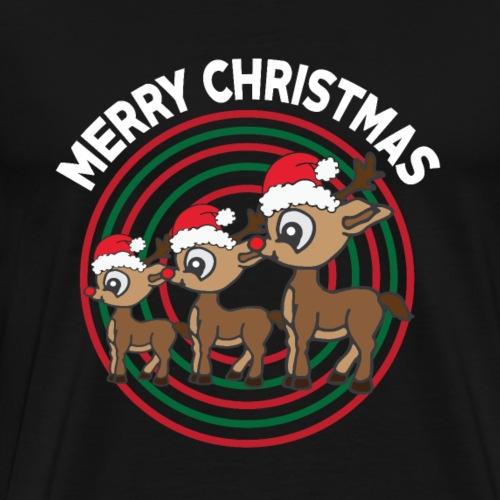 Rentier - Muetze - Geschenk - Weihnachten - Rudolf - Männer Premium T-Shirt