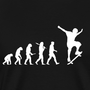 Evolution skateboard! Skate! - Premium T-skjorte for menn