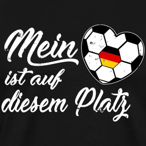 MEIN HERZ IST AUF DIESM PLATZ - Männer Premium T-Shirt