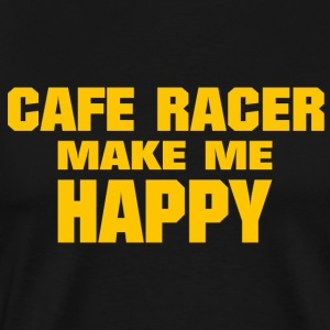 Cafe Racer Make me Happy - Men's Premium T-Shirt