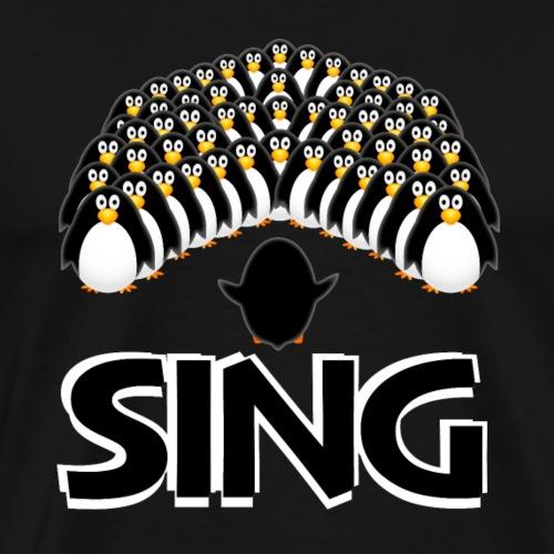 Sing Penguin Choir - Men's Premium T-Shirt