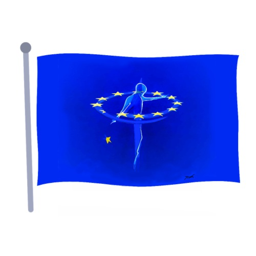 unity of europe flag - Männer Premium T-Shirt