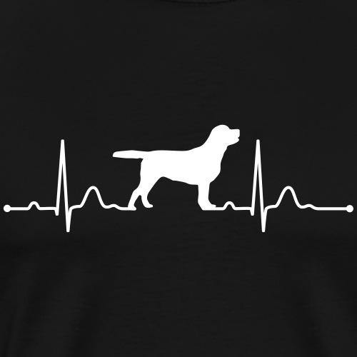 LABRADOR heartbeat Herzschlag - Männer Premium T-Shirt