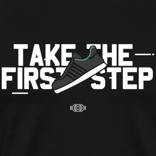 Take the 1st Step (Weiß) - Männer Premium T-Shirt