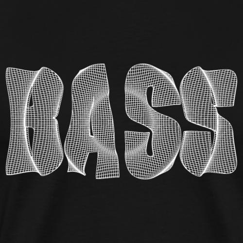 Bass Text weiß - Männer Premium T-Shirt