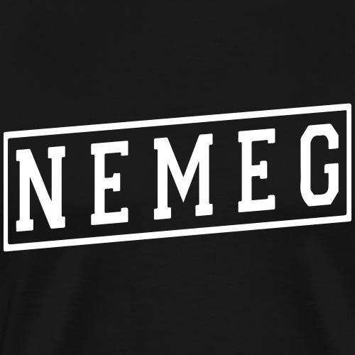 Nemeg Logo - White - Männer Premium T-Shirt