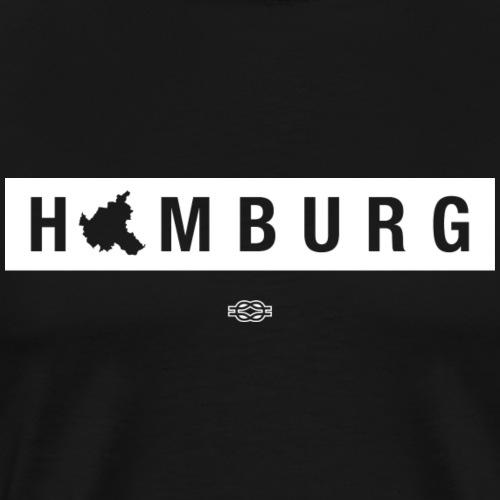 Hamburg Map (Weiß) - Männer Premium T-Shirt