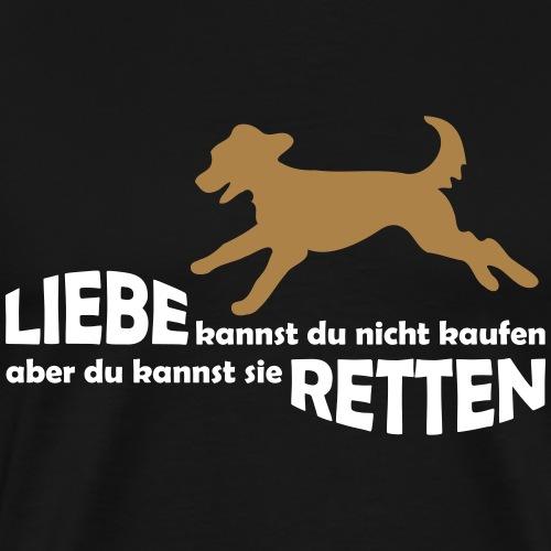 Hund Tierschutz Mischling Tierheim Hunde Retten - Männer Premium T-Shirt
