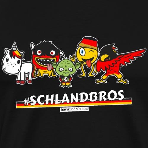HARIZ.PIXBROS #Schlandbros - Männer Premium T-Shirt