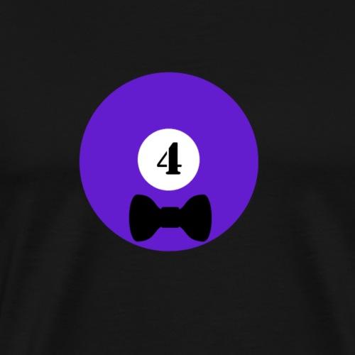 Billard Vier Schleife Junggesellenabschied JGA - Männer Premium T-Shirt