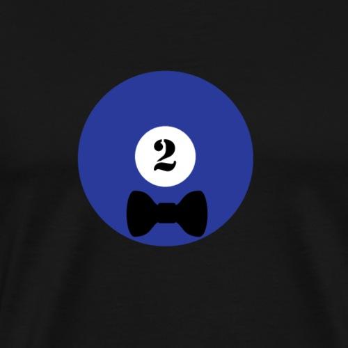 Billard Zwei Schleife Junggesellenabschied JGA - Männer Premium T-Shirt