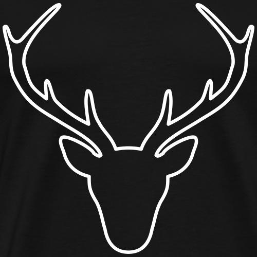 Hirschgeweih Hirsch Geschenk - Männer Premium T-Shirt
